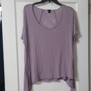 Torrid tee with lace back